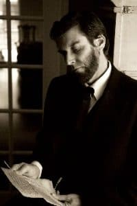 Mr. Kevin Weinert as Abraham Lincoln