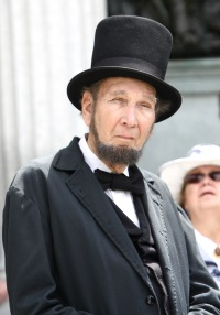 Lewis Clymer as Abraham Lincoln